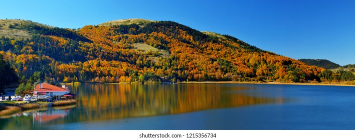 Panoramic view for Abant Lake From Bolu Turkey