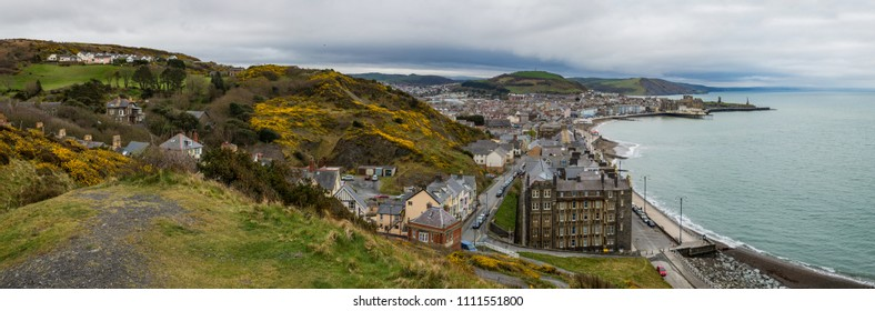 Panoramic view of Aberystwyth in Wales