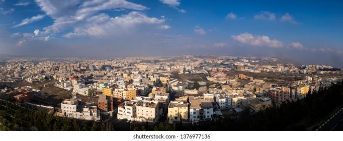 Panoramic view of Abha city in western Saudi Arabia