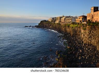 panoramic view of Acicastello  coastline