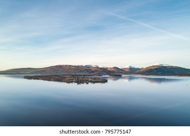 Panoramic View Across Loch Lomond in Scotland's Trossachs National Park