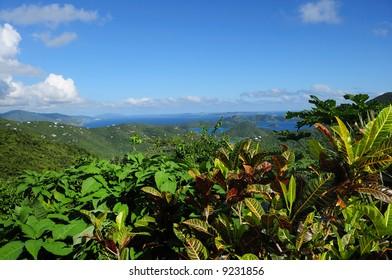 Panoramic view across St. John, US Virgin Islands