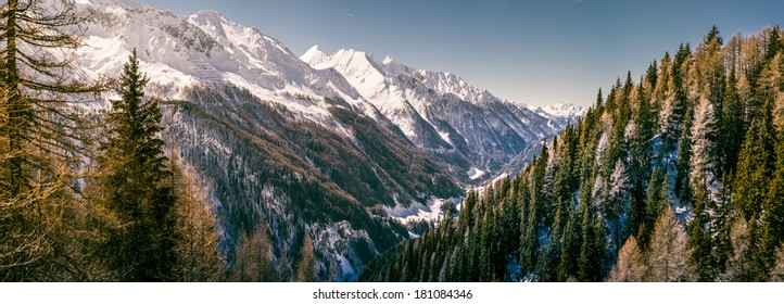 Panoramic view Ahrntal, South tyrol
