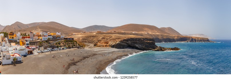 Panoramic View of Ajuy Village in Fuerteventura, Canary Islands