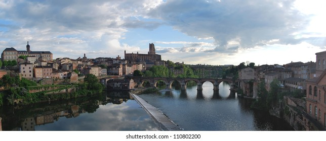 Panoramic view of Albi, the red city. France