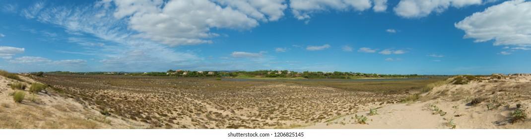 panoramic view of the Algarve golf resort Quinta do Lago in Portugal