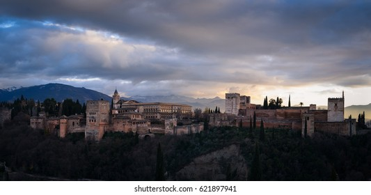 Panoramic view of the alhambra, in Granada, Andalusia, South spain, where Federico Garcia Lorca was born