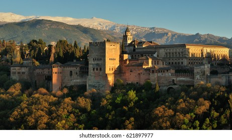 Panoramic view of the alhambra, in Granada, Andalusia, South spain, where Federico Garcia Lorca was born and visited by Washington Irving