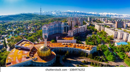 Panoramic view of Almaty city, Kazakhstan