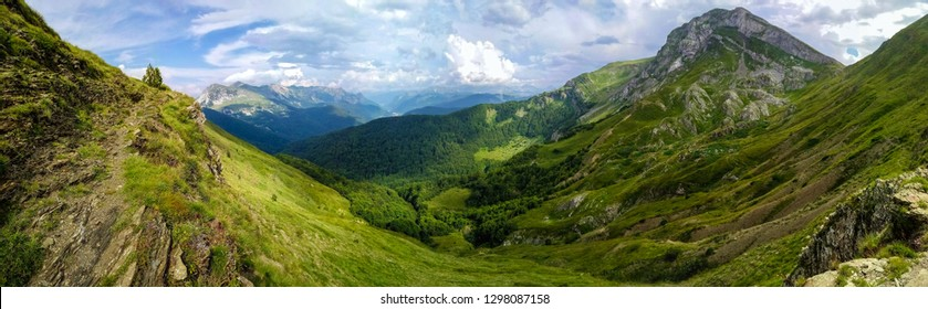 Panoramic view of Amazing Mountain Landscape
