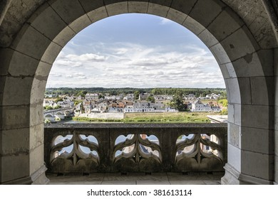 Panoramic view of Amboise - Loire - France