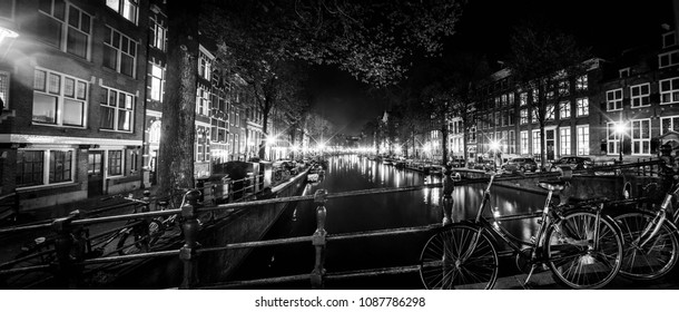 panoramic view of Amsterdam, red light district