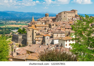 Panoramic view of Anghiari, in the Province of Arezzo, Tuscany, Italy.