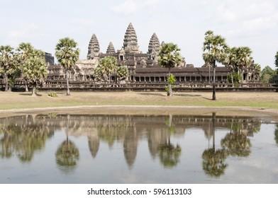 Panoramic view of Angkor Wat, Cambodia