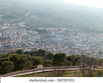 Panoramic view of Archidona, Andalusia, Spain, from the castle