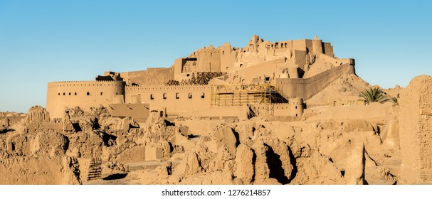 Panoramic view of Arg-e Bam - Bam Citadel, near city of Kerman, rebuilt after earthquake, Iran