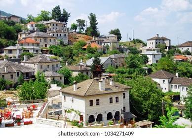 Panoramic view of Aristi village. Zagoria area, Epirus region, northwestern Greece, August 10 2010.