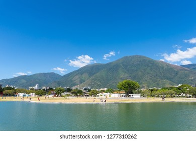 Panoramic view of Avila Mountain on a sunny day, in Caracas, Venezuela