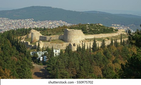 a panoramic view of aydos castle from a high point at aydos hill