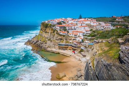 Panoramic view of Azenhas do Mar, Sintra, Portugal
