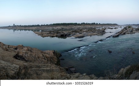 A panoramic view of the badaka river Dhanbad / Jharkhand state of India / at Jharkhand / India clicked on  4 February 2018