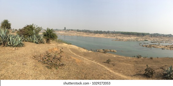 A Panoramic view of the Badaka River near Dhanbad / Jharkhand state of India / at Jharkhand / India at 12 February 2018