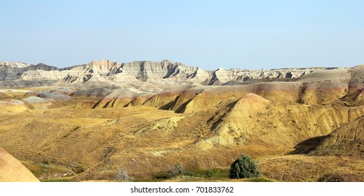 Panoramic view of Badlands National Park in South Dakota