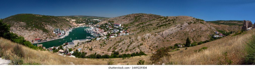 Panoramic view of Balaklava from Chembalo, Crimea