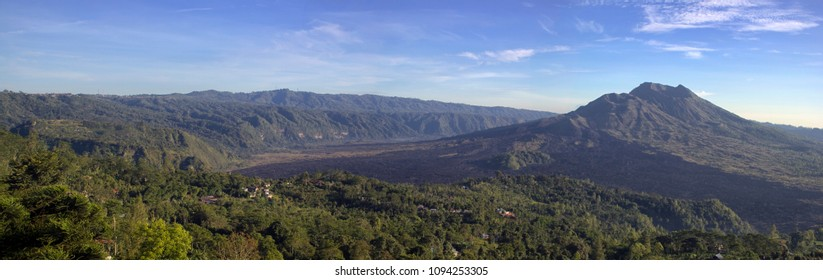 panoramic view of balinese mountain