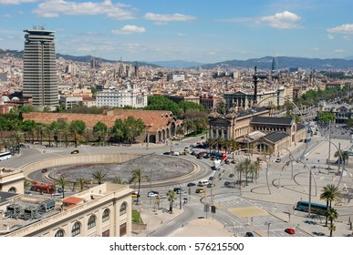 Panoramic view of Barcelona (Spain)