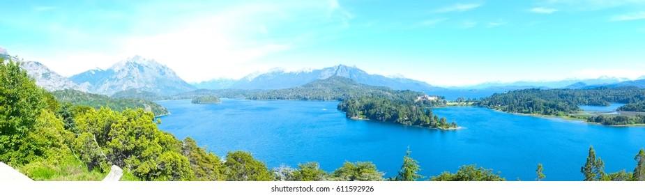 Panoramic view of Bariloche Argentina Patagonia