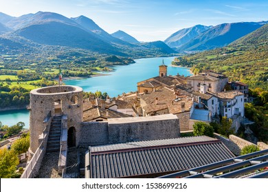 Panoramic view in Barrea, province of L'Aquila in the Abruzzo region of Italy.