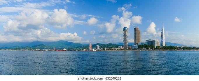 Panoramic view of Batumi in the sunshine day. Georgia