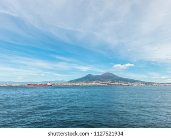 Panoramic view of the beautiful city of Naples in Italy