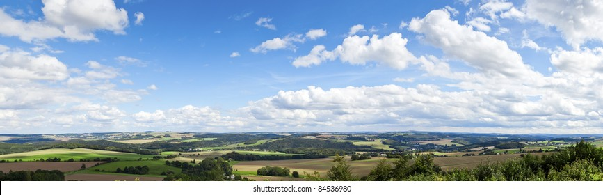 A panoramic view of the beautiful landscape in Saxon Germany