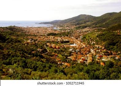 Panoramic view of beautiful town of La Spezia - Liguria - Italy