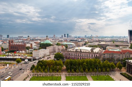 Panoramic view of Berlin, Germany, from Berliner Dom, the major cathedral located on the Museum Island (Museumsinsel) in the center of the city