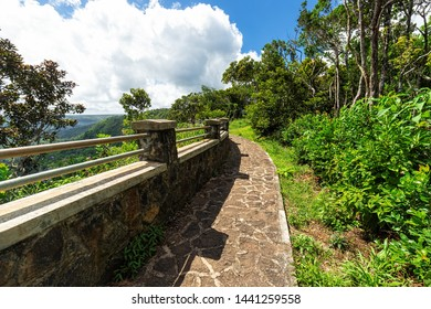 Panoramic view of Black River Gorges National Park, Gorges Viewpoint in Mauritius.