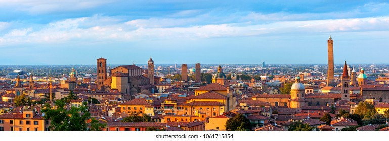 Panoramic view of Bologna - Italy