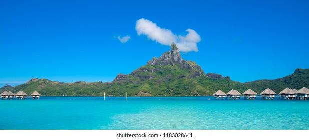 Panoramic view of Bora Bora, French Polynesia