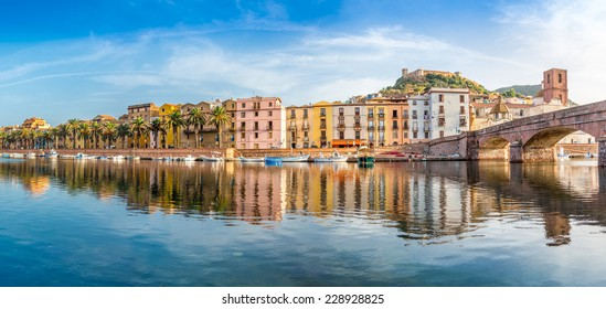 Panoramic view at the Bosa in Sardinia - Italy