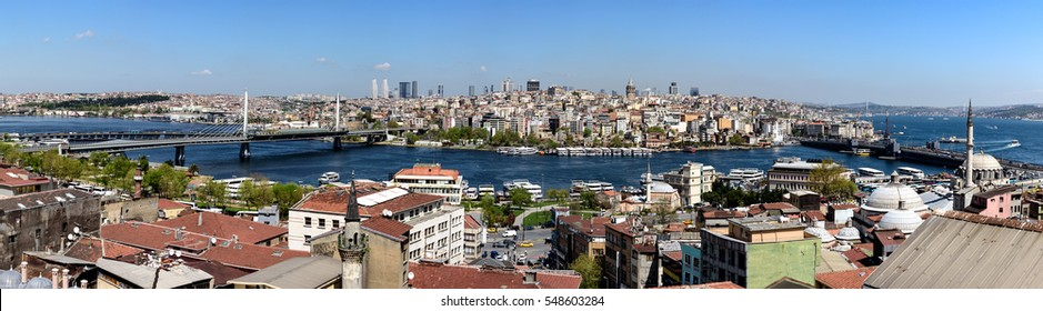Panoramic view of the Bosphorus and exquisite Istanbul city