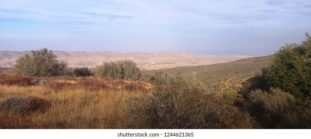 Panoramic view of Bouquet Canyon, north Los Angeles County