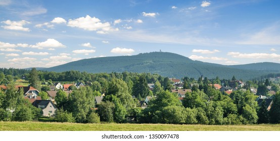 panoramic view of Braunlage in Harz Mountain,lower Saxony,Germany