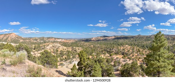 panoramic view of Bryce Canyon National Park from Utah State Route 12 (Scenic Byway 12) in Garfield County, Utah