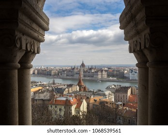 Panoramic view of Budapest from Fisherman's Bastion.