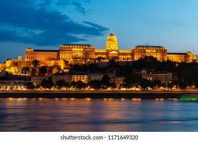 Panoramic view of Budapest at twilight