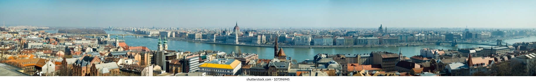 Panoramic view from Budapest,Hungary