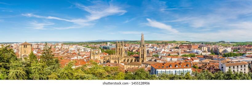Panoramic view at the Burgos Town - Spain