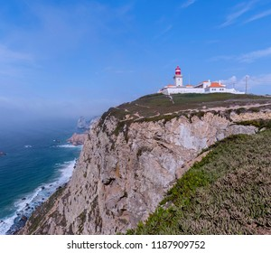 Panoramic view of Cabo da Roca. Sintra, Portugal